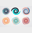 color spiral swirl set circle vector image