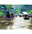 digital painting of thailand river plein air vector image