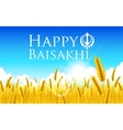 Happy Baisakhi vector image