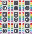 Hard drive Airplane Note Tick Calendar Mute vector image