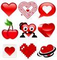 heart designs vector image