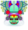 indian kathakali dancer face decorative modern vector image