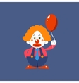 Sad Clown Holding Balloon vector image