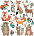 Woodland Tribal Animals Volume 2 vector image