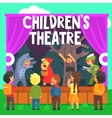 Amateur Children Theatre Performance Of A Red Hood vector image vector image