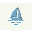 sailboat yacht vector image vector image