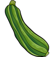 zucchini vegetable cartoon vector image