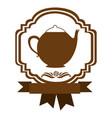 brown border heraldic decorative ribbon with vector image