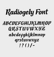 radiogely alphabet uppercase character vector image vector image