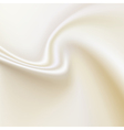 White silk background horizontal composition vector image