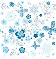 winter floral pattern vector image vector image