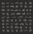 Ampersand and Catchwords vector image