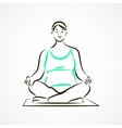 Lotus pose vector image