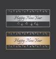 Happy new year design elements vector image vector image