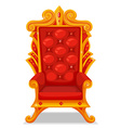 Throne made of gold vector image