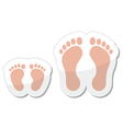 Footprint icon - baby child and adult vector image