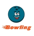 Bowling and bowling ball icon vector image