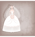 Bride on vintage background vector image