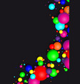 colorful glossy balls background falling spheres vector image