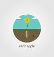 Flat icon for Jerusalem artichoke vector image