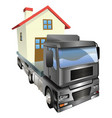 moving house truck concept vector image