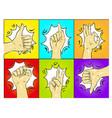 pop art hands gestures vector image