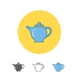 The teapot icon Tea symbol vector image
