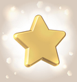Golden metallic star prize vector
