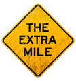 The Extra Mile vector image