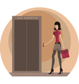 Business woman at the office vector image