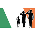 ireland soldier family salute vector image
