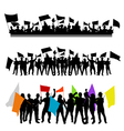Fun group with flags Vector Image