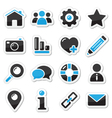 Web and internet icons set vector image