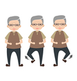 Exercise for elder people vector image