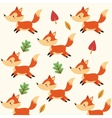 Fox cartoon icon Woodland animal graphic vector image