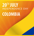 independence day of colombia flag and patriotic vector image