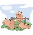 little pigs cartoon vector image