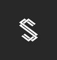 Monogram S logo letter mockup design element vector image