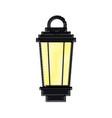 vintage lamp street decoration outline vector image