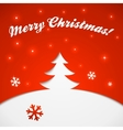 Red and white Christmas tree applique vector image vector image