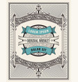 retro whiskey label layered vector image