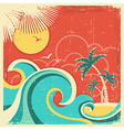 Vintage tropical poster vector image