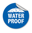 water proof sticker vector image