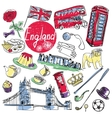 set of tourist attractions England vector image