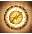 Vintage antique golden compass vector image vector image
