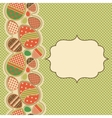 Easter greeting card with seamless border vector image