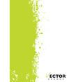 Green splat grunge vector image