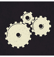 grunge styled gears vector image