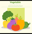 Healthy food background with vegetable vector image