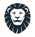 lion head insignia vector image